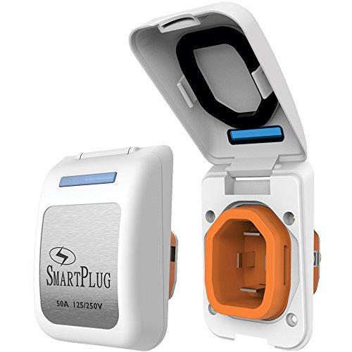SmartPlug 50 Amp Non Metallic White Inlet -