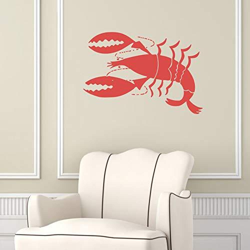 yiyiyaya Hummer Wandaufkleber Tier Meeresfrüchte Wandtattoos Cafe Küche Restaurant Home Interior Design Kunstwand Kinderzimmer Decor59x88cm