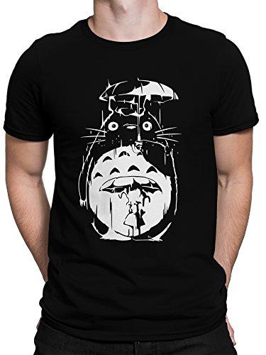 T-Shirt Mein Nachbar Regen Fan Plus Geschenkkarte, Größe:XXL, Farbe:Schwarz (Studio 54 Film Kostüme)