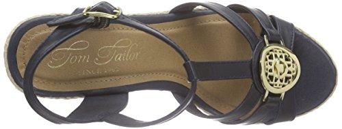 Tom Tailor 9690806, Sandales femme Bleu (Marine)