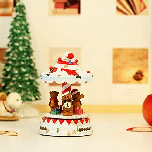 BYBAY Music Box Bright Vocal Weihnachtsglockenspiele Rotierende Glockenspiele Ungewöhnlich Glockenspiel Music Box