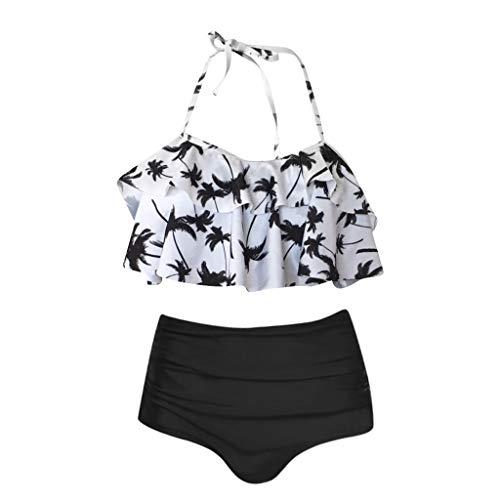 Maillots De Bain Femme 2 Pièces Sexy Eté Grande Taille Push Up Bikini Deux Pièces Croix Taille Haute Maillot de Bain Baignade 2019 Mode Chic