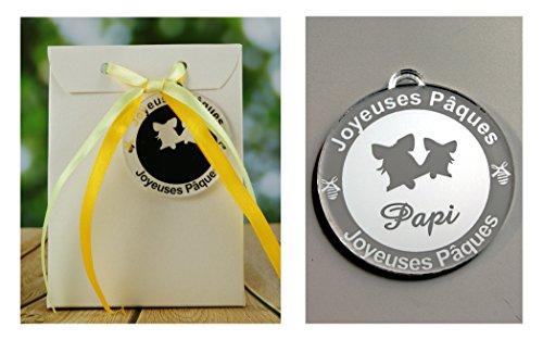 Boite de Chocolat garnie - Joyeuses Pâques Papi (Cadeau pour Pâques) - Mod. Cloche