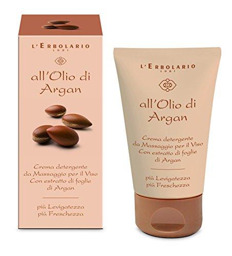L'Erbolario Arganöl Gesichtsreinigungscreme zum Einmassieren, 1er Pack (1 x 125 ml)