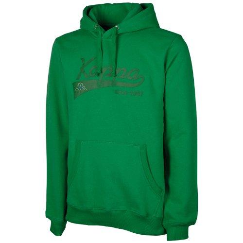 Kappa Unisexe Pull à capuche Narkotio avec intérieur brossé vert