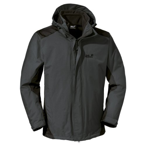 Jack Wolfskin Herren 3 In1-Jacke Cold Glen Shadow Black