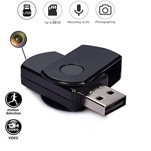 Cámara Espía Oculta USB 2.0 960p Cámara Espía con Micrófono Integrado, Grabación De Video y Audio, Instantáneas, Etc. Cámara Espía Portátil con Micro Grabadora