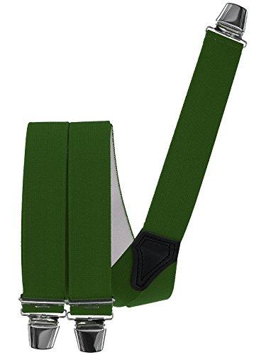 Harrys-Collection Hosenträger mit 3 extra starken Clips vielen uni Farben 2 Größen zur Wahl Y Form, Farben:schwarz, Größen:120 cm