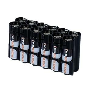 STORACELL Battery Caddie für 12 AA Batterien - orange