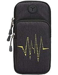 Sac de téléphone cellulaire créatif Sac pratique pratique pour le sport en plein air, noir
