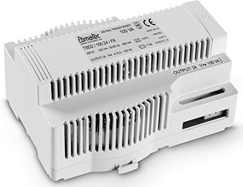 Comatec TBD210024F8 Transformator für DIN-Schienen, 230 V AC / 24 V AC / 100 VA