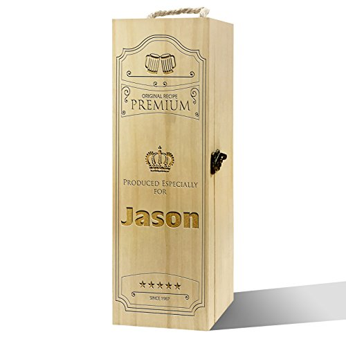 Twisted Envy Persönlicher Original Rezept Label Luxus Holz Wein Box (Rezept Holz Box)