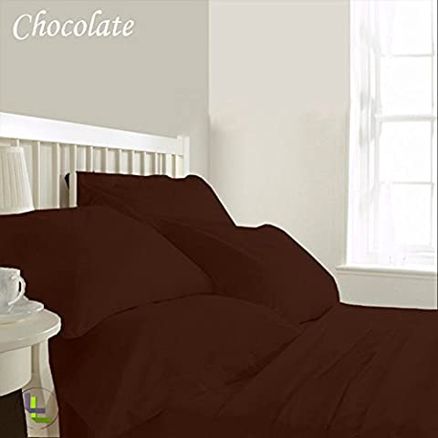 800TC egiziano 100% cotone elegante finitura 6pcs Waterbed Sheet Set Solido (dimensioni: 30 pollici), Cotone, Chocolate Solid, Single_Extra_Long - Monogram 30 Single