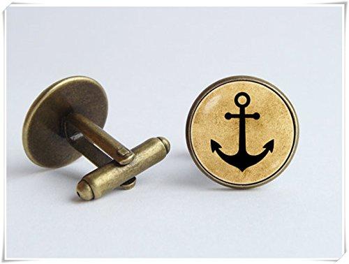 chen jian xin Gemelos de ancla con gemelos de mar y joyería náutica