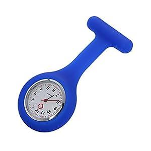 Armbanduhr, erthome Silikon-Krankenschwester Watch Brosche Tunika Taschenuhr mit kostenlosen Batterie Doktor Medizinisch