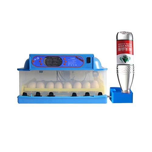 KSWD 36 Eier Inkubator, Brutkasten Brutapparat Transparent Automatische Wasserversorgung Dual Power Wandler, Blau
