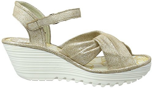 FLY London Damen Yesh712fly Wedge Sandal Elfenbein (pearl 009)