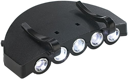 Lunartec Schirmmützenlampe: Universal-Clip-Licht für Baseball-Caps, mit 5 weißen LEDs (Kappenlampe)