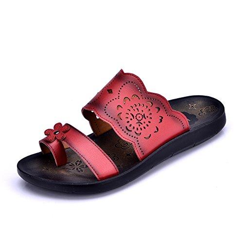 madre in scarpe estive/Pantofole/Un pantofole flip flop/Fondo piatto sandali centrali A