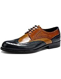 4407c3a157a7e snfgoij Zapatos Oxford para Hombre Confort Negro Boda con Cordones Zapatos  de Traje de Cuero Zapatos
