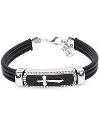 Bracelet homme croix marine