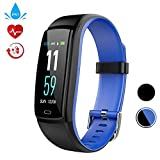Fitness Tracker Smart Watch, Activity Tracker mit Pulsmesser, Farbbildschirm Fitness Watch mit Anruferinnerung Schlafmonitor Blutdruckmonitor Schrittzähler