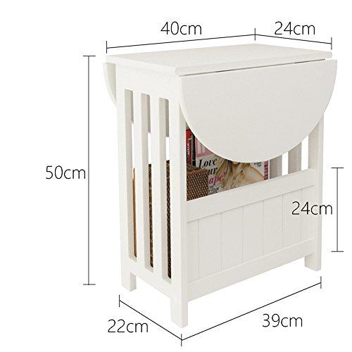 DEO Bureau d'ordinateur Mini petite table peut être tournée table basse de Cabinet de sofa pour le salon durable