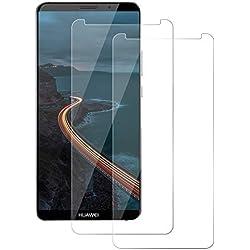 FayTun [Lot de 2 Huawei Mate 10 Pro Protection Écran Verre Trempé [Compatible avec Coques] [9H Dureté] [Anti Rayures] [sans Bulles] Protection Film Huawei Mate 10 Pro