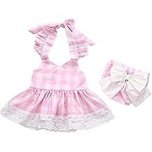 Covermason Bebé Niñas Princesa Bowknot Cordón Vestir y Pantalones cortos(1 Conjuntos)