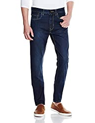 Peter England Mens Tapered Fit Jeans (8907411594796_JDN31604374_82/32W x 32L_Medium Blue with White)