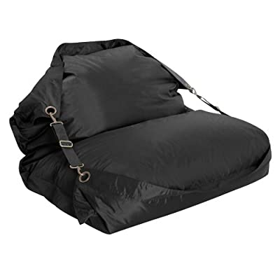 BAZAAR BAG ® Flex - Giant Bean Bag Chair - Indoor Outdoor Bean Bags with Straps (Black)