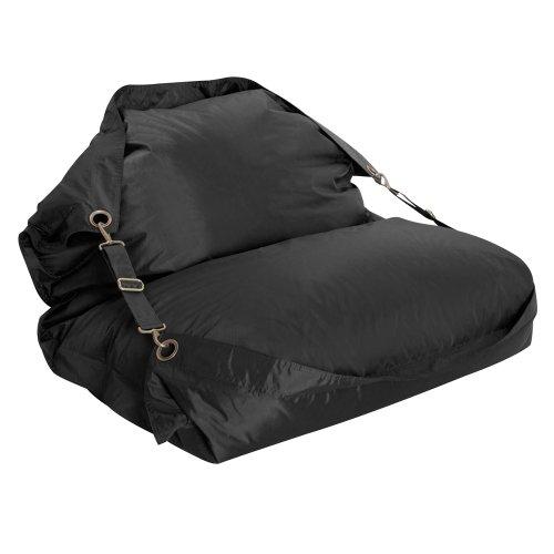 Bazaar Bag Großer Sitzsack mit Gurten, Schwarz (für Innen- und Außenbereich) - 2