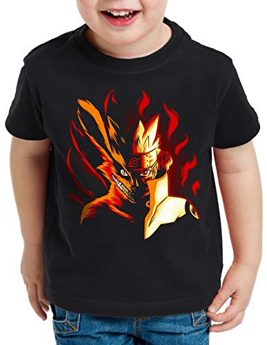 CottonCloud Fire Wolf T-Shirt für Kinder Uzumaki Ninja Anime, (Cloud Kinder Kostüm)