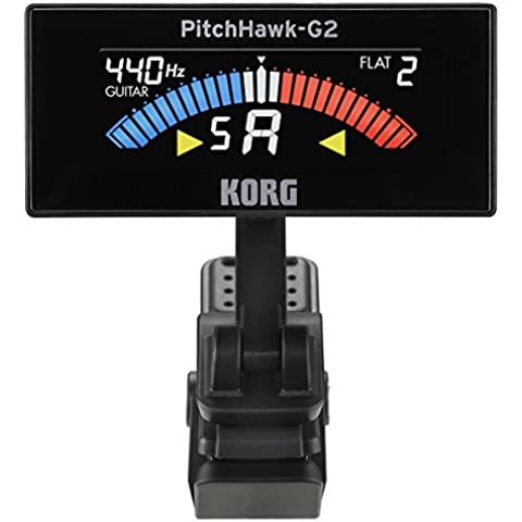 KORG AW-3G2-BK PitchHawk-G2 Clip-On Tuner (Guitar/Bass), black - Bass Tuner