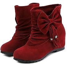 43e0a2c91b23 FEITONG Frauen Stiefel Damen Stiefeletten mit Bowknot Dekor Winter Freizeit  Wasserdicht Schuhe Anti-Slip Dicke