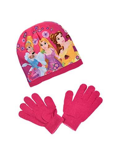 Les Princesses Disney - Set de bufanda, gorro y guantes - para niña
