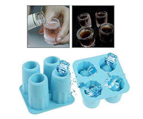 Ice Shot Glas Maker Tablett Form–Macht Shot Gläser aus Schokolade, Eis, Saft für Geburtstag Weihnachten Partys Hochzeiten Veranstaltungen Drinking Games Neuheit Geschenke–zufällige Farbe