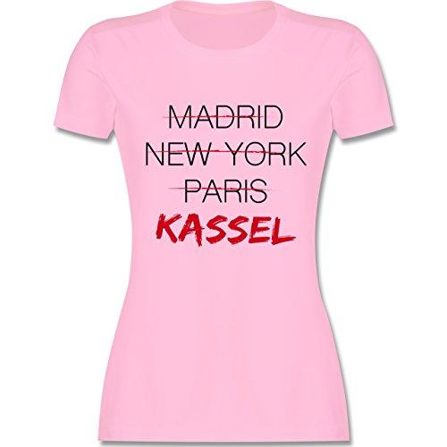 Shirtracer Städte - Weltstadt Kassel - Damen T-Shirt Rundhals Rosa
