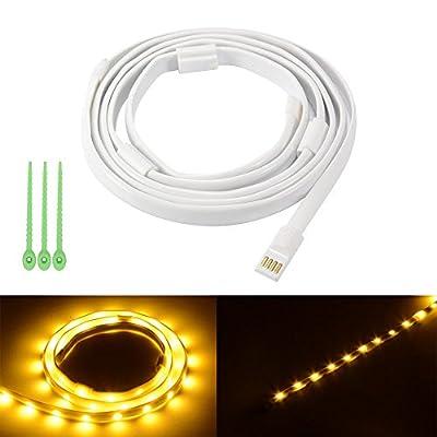 Lampade da campeggio LED 5ft Lampade impermeabili USB portatile a LED per lampade a striscia per escursioni a piedi, emergenze by JRQ