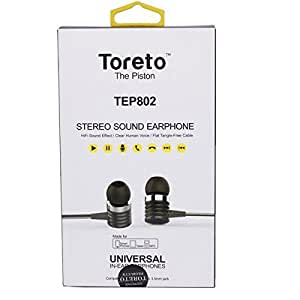 Toreto The Piston high quality stereo earphones with mic for Alcatel One Touch POP C9