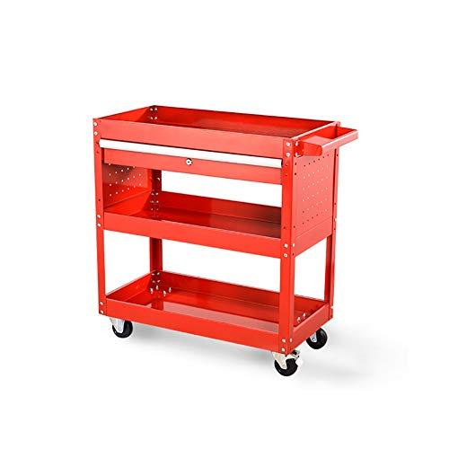 Küchenwagen 3 Tier Regal Werkzeugwagen Lagerung Rad Wagen Trolley Heavy Duty Garage Werkstatt DIY...