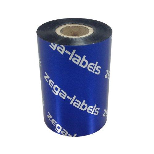 Preisvergleich Produktbild Thermotransfer Farbband schwarz 90 mm x 300 m - zega blue (Wachs Premium) - Farbseite AUSSEN - für Industriedrucker Zebra ZM400/ZM600/ZT220/ZT230/S4M/Z4M/Z6M/XI-Serie mit 1 Zoll Kern 25 mm - für Papieretiketten Bedruckung