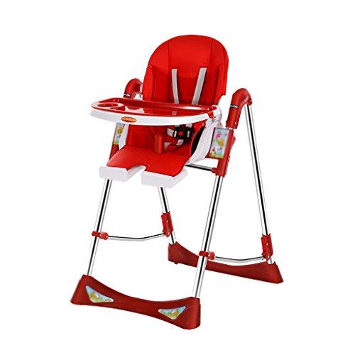 BJSQ-L Fünf-Punkt-Sicherheitsgurte, Multifunktions-Baby-Restaurant Restaurant Hotel Sitze Kunststoff-Teller kann durch DREI Gänge angepasst Werden (Farbe : Rot)