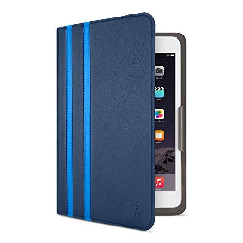 Belkin Universal Twin Stripe Schutzhülle (für Tablets, Apple iPad mini 1-4, Samsung Galaxy Tab A (8 Zoll), Samsung Galaxy Tab S2 (8 Zoll)) dunkelblau