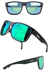 Verdster Polarisierte XL Sonnenbrillen für Herren - Spezielle TourDePro Gläser - Zubehöretui - UV400 Schutz - Ideal für Städtetouren (Dunkelgrün, Grün)