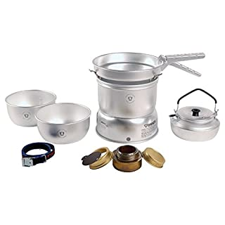 Juego de cocina para camping Trangia superficie antiadherente, 27 piezas, incluye hornillo