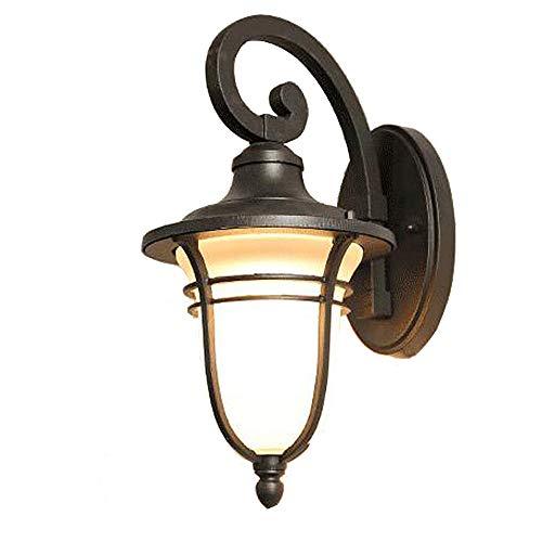 GosQ LED Wandleuchte/Indoor Outdoor Wandleuchte/Wasserdicht/Sauber Einfach und Sauber/Retro Wandleuchte/Für Flur,Outdoor,Schlafzimmer Beleuchtung - Optionale Glühbirne - Pearl Outdoor-wandleuchte
