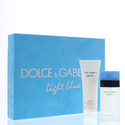 Dolce & Gabbana Light Blue femme/woman, Geschenkset (Eau de Toilette, 25 ml mit Body Cream, 50 ml), 1 Set - Blue Parfüm Edt