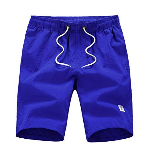 SANFASHION Herren Short Männer Casual Fashion Pure Color Strandtasche Surfen Schwimmen Lose Kurze Hosen