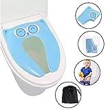 [Upgraded Version] Faltbarer Toilettensitz Kinder Toilettentrainer, Gimars Reise WC Sitz Toilette Töpfchen für unterwegs